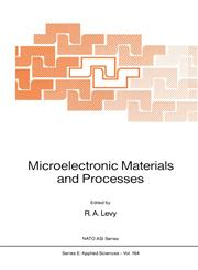 Microelectronic Materials and Processes,0792301544,9780792301547