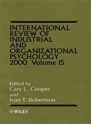 International Review of Industrial and Organizational Psychology 2000, Vol. 15 1st Edition,0471858552,9780471858553