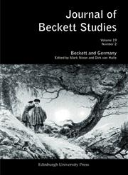 Beckett and Germany Journal of Beckett Studies, Vol. 19, No. 2 1st Edition,0748641394,9780748641390