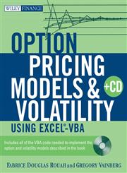 Option Pricing Models and Volatility Using Excel-VBA,0471794643,9780471794646