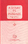 A Start in Punjabi Based on Comparative Structures of Punjabi and American English,8173803994,9788173803994