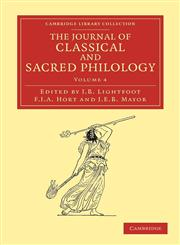 The Journal of Classical and Sacred Philology,1108053548,9781108053549