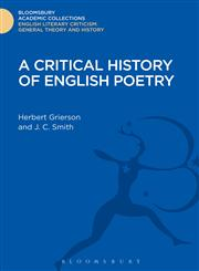 A Critical History of English Poetry,1472508254,9781472508256