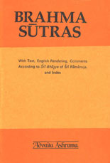 Brahma-Sutras Sri-Bhasya With Text, English Rendering, Comments According to Sri-Bhasya of Sri Ramanuja and Index,8175050063,9788175050068