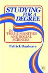 Studying for a Degree In the Humanities and Social Sciences,0333418425,9780333418420