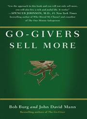 Go-Givers Sell More,1591843081,9781591843085