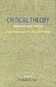 Critical Theory Western and Indian : Essays Presented to Prof. V.Y. Kantak,8185753156,9788185753157