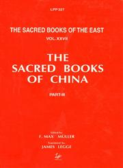 The Li Ki, I-X Part 3 Reprinted LPP,8175360275,9788175360273