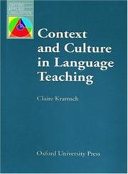 Context and Culture in Language Teaching,0194371875,9780194371872