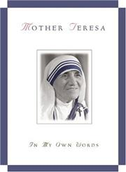 Mother Teresa In My Own Words,0764802003,9780764802003