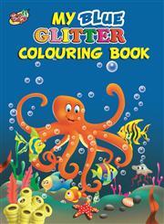 My Blue Glitter Colouring Book,9381347859,9789381347850