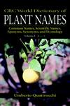 World Dictionary of Plant Names Common Names, Scientific Names, Vol. 1,0849326753,9780849326752