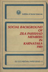 Social Background of Zila Parishad Members in Karnataka, 1989