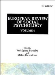 European Review of Social Psychology, Vol. 4,0471939072,9780471939078