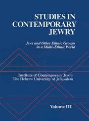 Studies Contemporary Jewry Jews and Other Ethnic Groups in a Multi-Ethnic World,0195048962,9780195048964