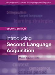 Introducing Second Language Acquisition 2nd Edition,1107010896,9781107010895
