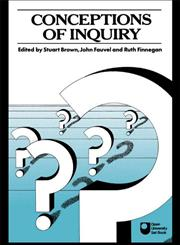 Conceptions of Inquiry,0415045657,9780415045650