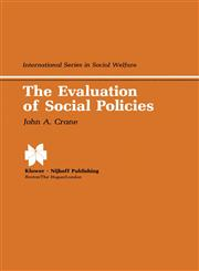 The Evaluation of Social Policies,0898380758,9780898380750