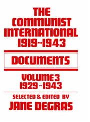 The Communist International, 1919-1943 Documents; Volume 3, 1929-1943,0714615560,9780714615561