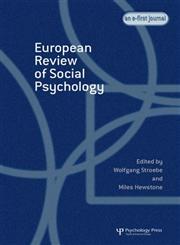 European Review of Social Psychology,184169942X,9781841699424