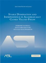 Stable Domination and Independence in Algebraically Closed Valued Fields,0521889812,9780521889810