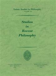 Studies in Recent Philosophy,9024702860,9789024702862