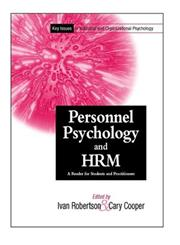 Key Issues In Industrial and Organizational Psychology A Reader for Students and Practitioners, Personnel Psychology and Human Resources Management,,0471495573,9780471495574