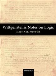 Wittgenstein's Notes on Logic,0199596352,9780199596355