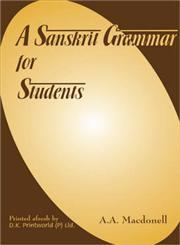 A Sanskrit Grammar for Students 4th Impression,8124600945,9788124600948