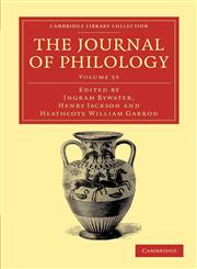 The Journal of Philology,1108056938,9781108056939