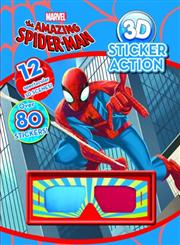 Marvel the Amazing Spiderman 3D Sticker Action,1445496070,9781445496078
