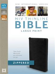 NIV Thinline Zippered Collection Bible, Large Print,0310421373,9780310421375