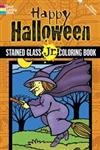 Happy Halloween Stained Glass Jr. Coloring Book,0486498727,9780486498720