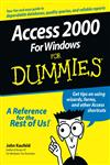 Access 2000 for Windows for Dummies,0764504444,9780764504440