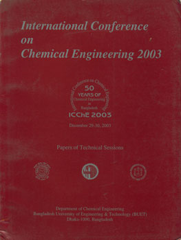 International Conference on Chemical Engineering, December 29-30, 2003 (ICChE 2003) Papers of Technical Sessions