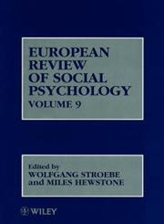 European Review of Social Psychology, Vol. 9,0471984264,9780471984269