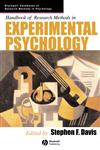 Handbook of Research Methods in Experimental Psychology,1405132809,9781405132800