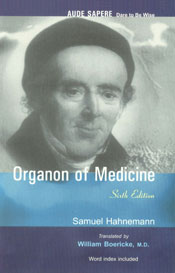Organon of Medicine Hahnemann's Own Written Revision, Word Index Included 6th Edition, Reprint,8131902234,9788131902233