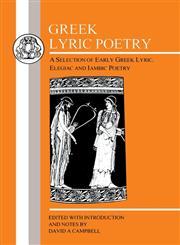 Greek Lyric Poetry Ajax,0862920086,9780862920081